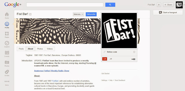 Fist Bar! community at Google Plus