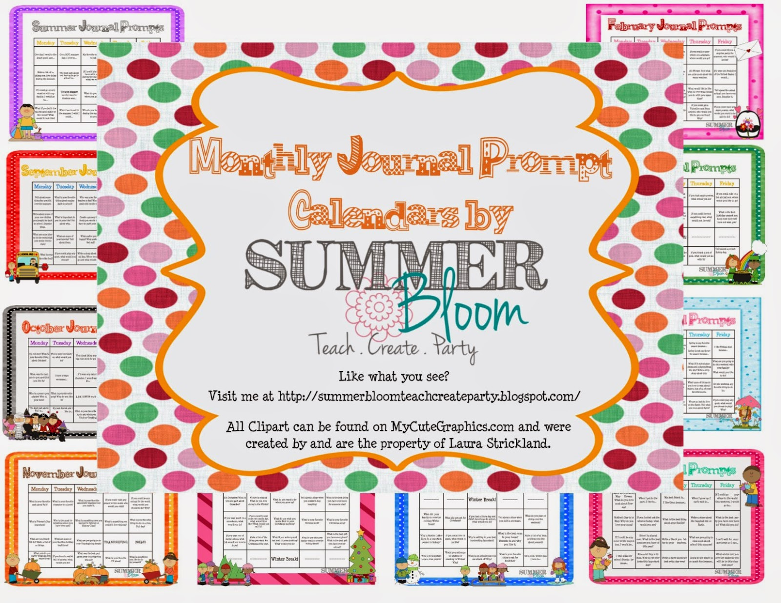 whole year of journal prompt calendars you can download them from my ...
