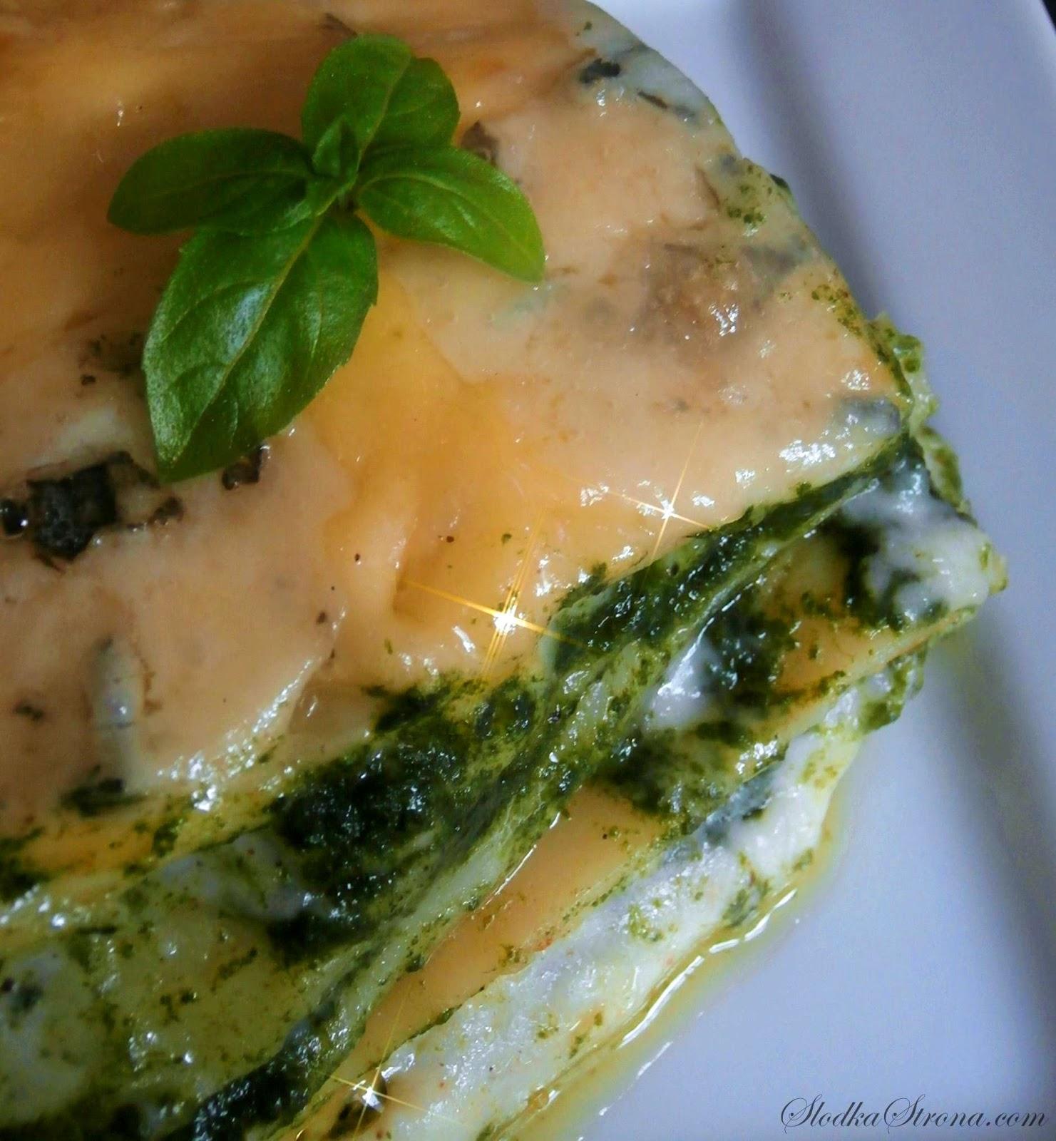 Lasagne ze Szpinakiem i Sosem Beszamelowym - Przepis - Słodka Strona