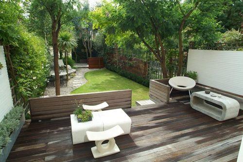 Los diferentes estilos de jardines dise o y decoracion - Jardines modernos con piedras ...
