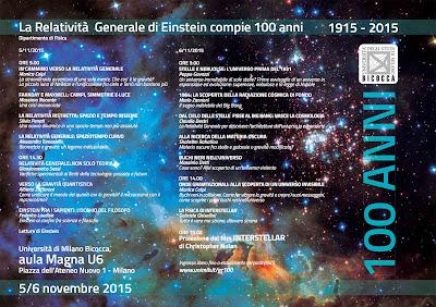 Milano Bicocca 1915-2015: 100 ANNI DELLA RELATIVITÀ GENERALE.