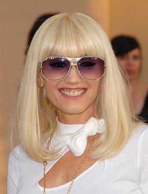 Gwen Stefani Rapid Fire Fringe hairstyle.