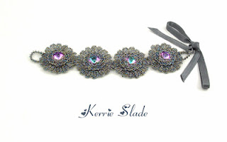 beaded animals, beaded bracelet, beaded flowers, contemporary beadwork, midnight garden, Midnight Garden exhibition, spike beads, stitchncraft, thorn flowers, york beads