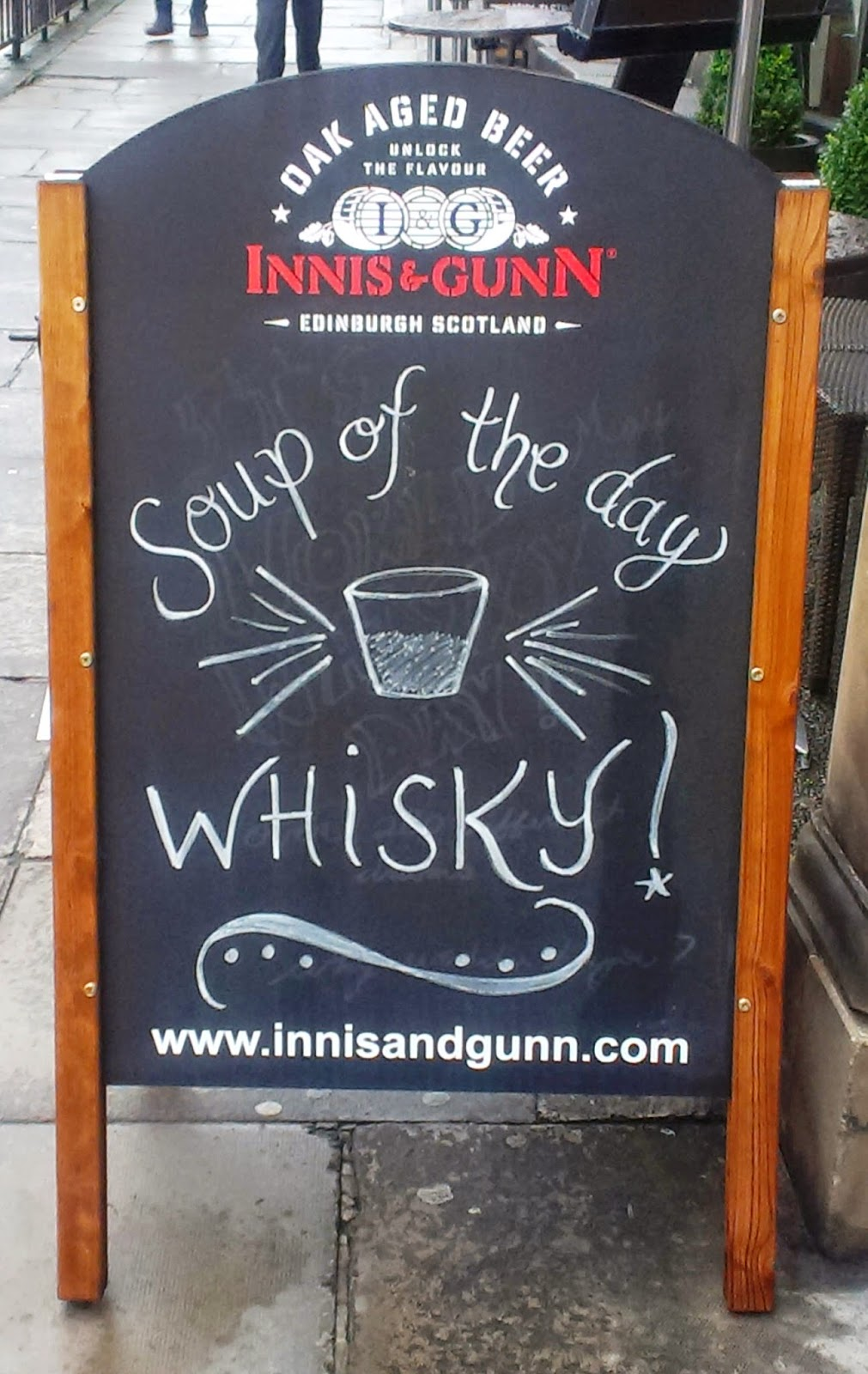 Whisky sign Edinburgh