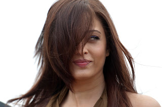 Aishwarya Rai poses during a beach front Photocall at the Cannes