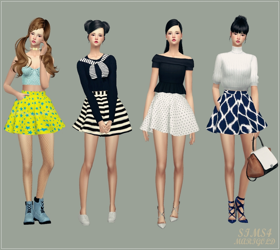 My Sims 4 Blog Skirts By Marigold