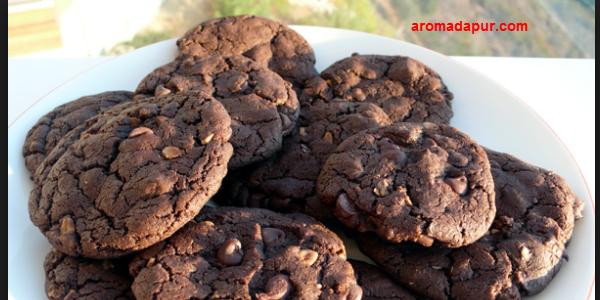 Resep Membuat Kue Coklat Kacang Enak dan Renyah aromadapurdotcom