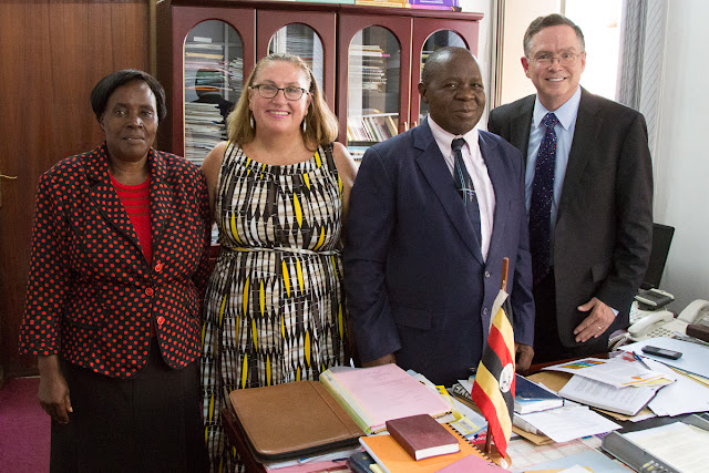 Beatrice Kaggya (Ugandan disability commissioner), Terry Jenna, Minister Sulaiman Madada, Jim Fruchterman in office
