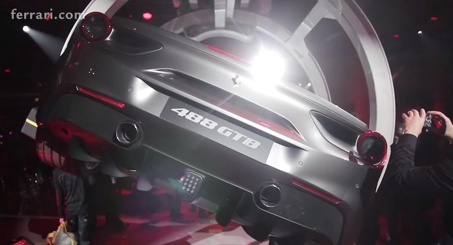 フェラーリ、新型モデル「488GTB」のワールドプレミアの模様を公開