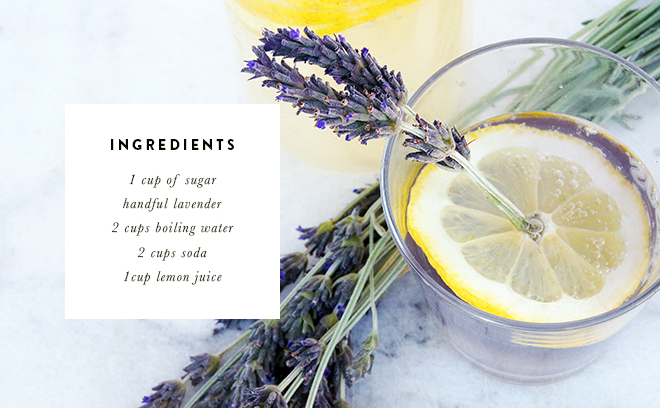 Pepper and Buttons: lavender infused lemonade