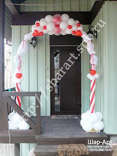 оформление свадьбы воздушными шарами, арки из шаров
