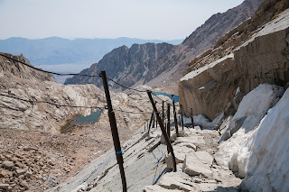 Cables section of Mount Whitney Trail