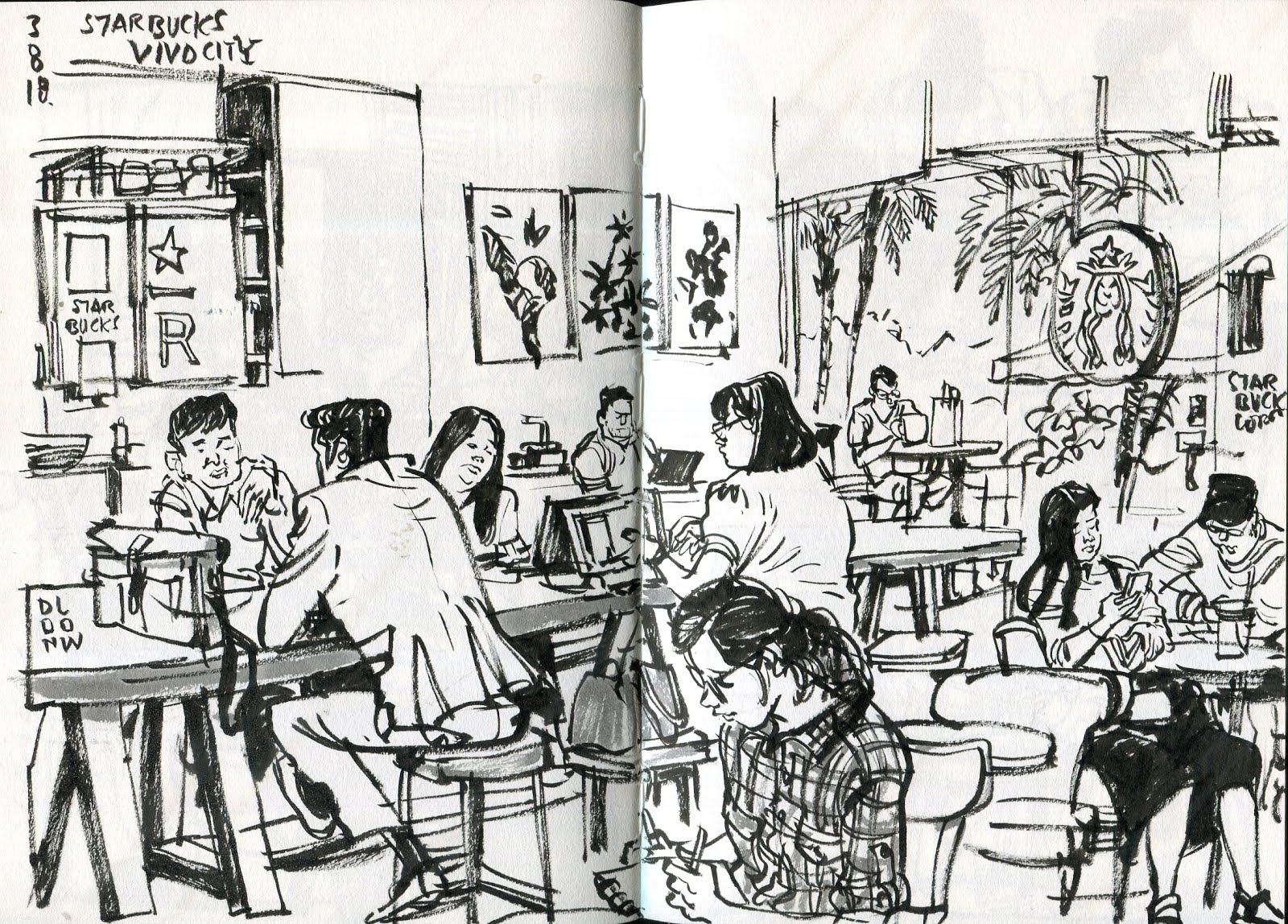 Urbansketchers | Sketching & Drawing People at Cafes & on public ...
