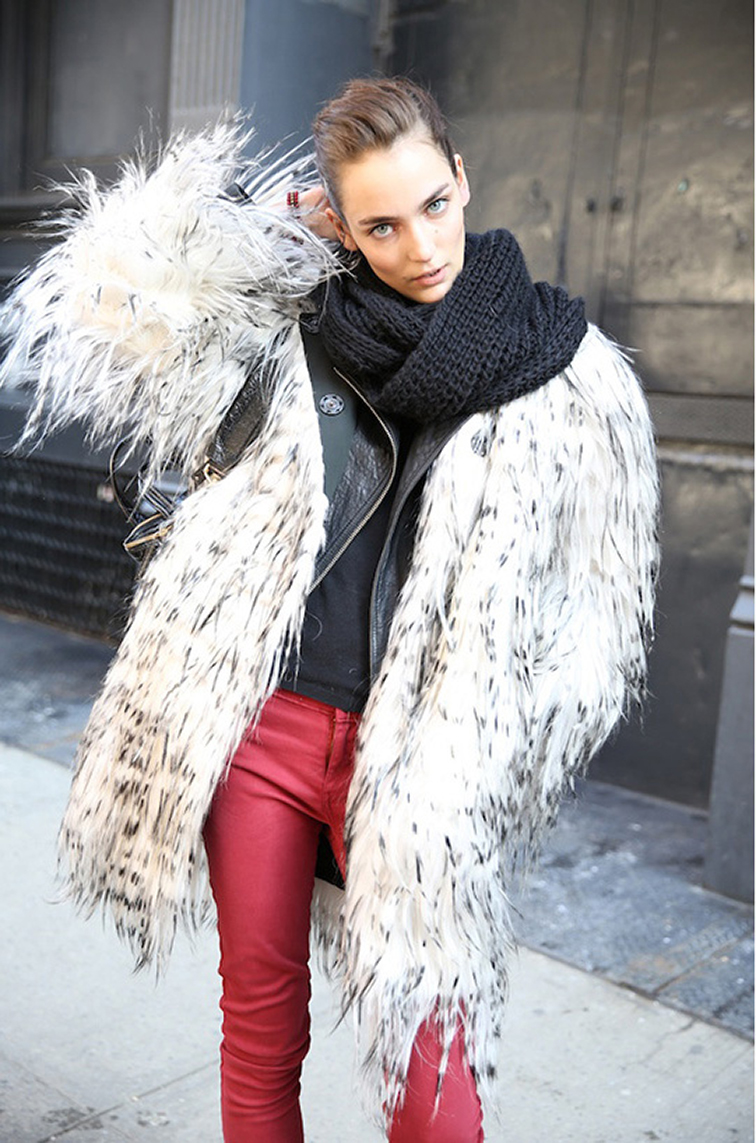 Zuzanna Bijoch street style, fashion week, model off duty