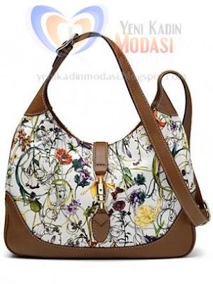 çiçekli gucci yeni model çanta