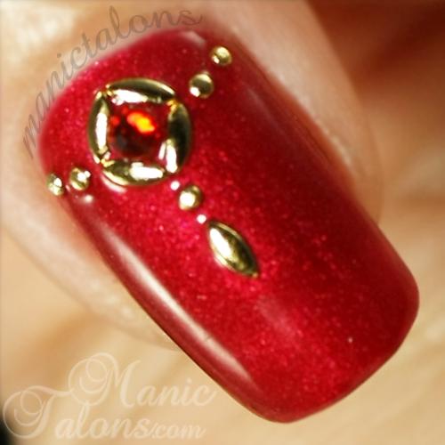 IBD Scarlett Obsession, Studded Nail Art