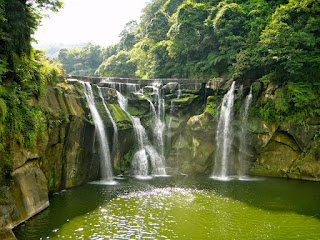 Shifen Waterfall in Summer Taiwan