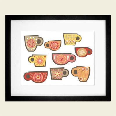 Otobi tea cup print