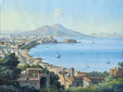 Veduta del Golfo di Napoli - Ottocento