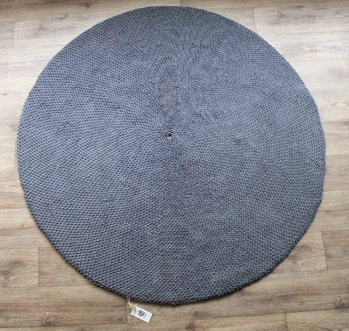 dywan ciemnoszary okrągły