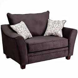 Contemporary Gray Lounge Chair with Pillows