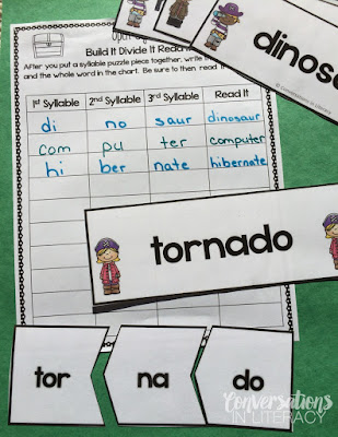 Open Syllable Multisyllabic Word Activities