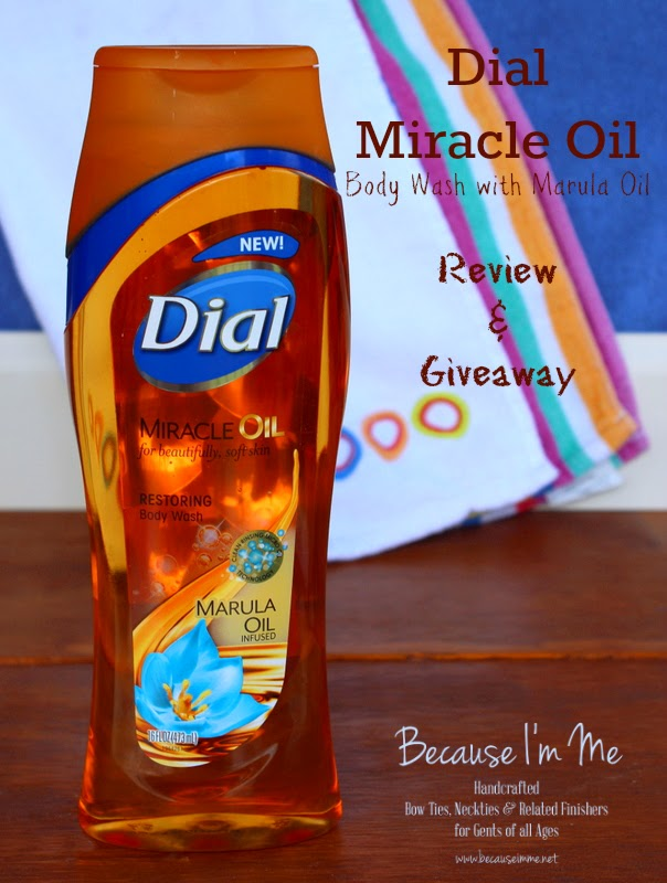 Dial Miracle Oil Body Wash with Marula Oil review and giveaway