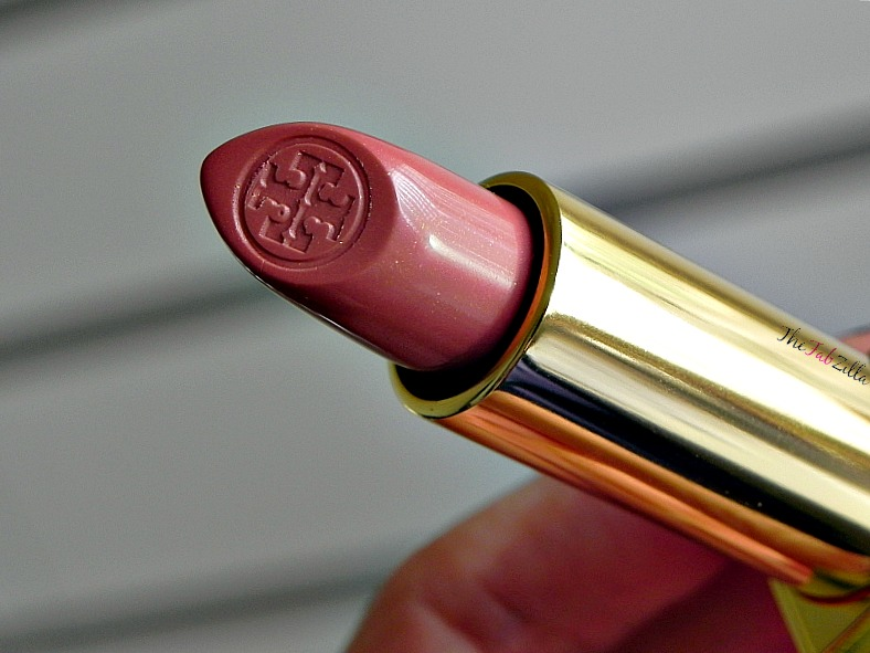 tory burch lip color pas du tout 01 review swatch, tory burch beauty, tory burch makeup