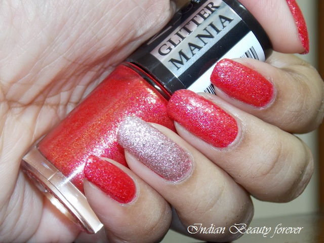 Maybelline Color Show Glitter Mania in Red Carpet review, price, India