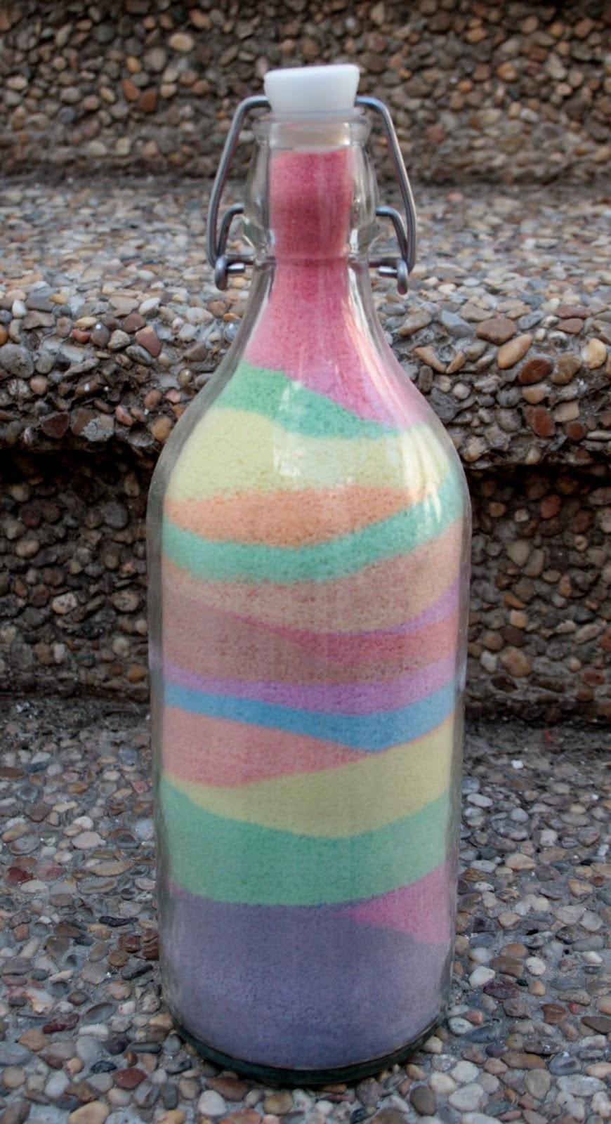hacer botella sal de colores