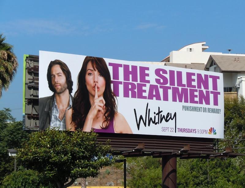 Whitney Silent Treatment billboard