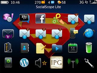 Tema Superman untuk BlackBerry