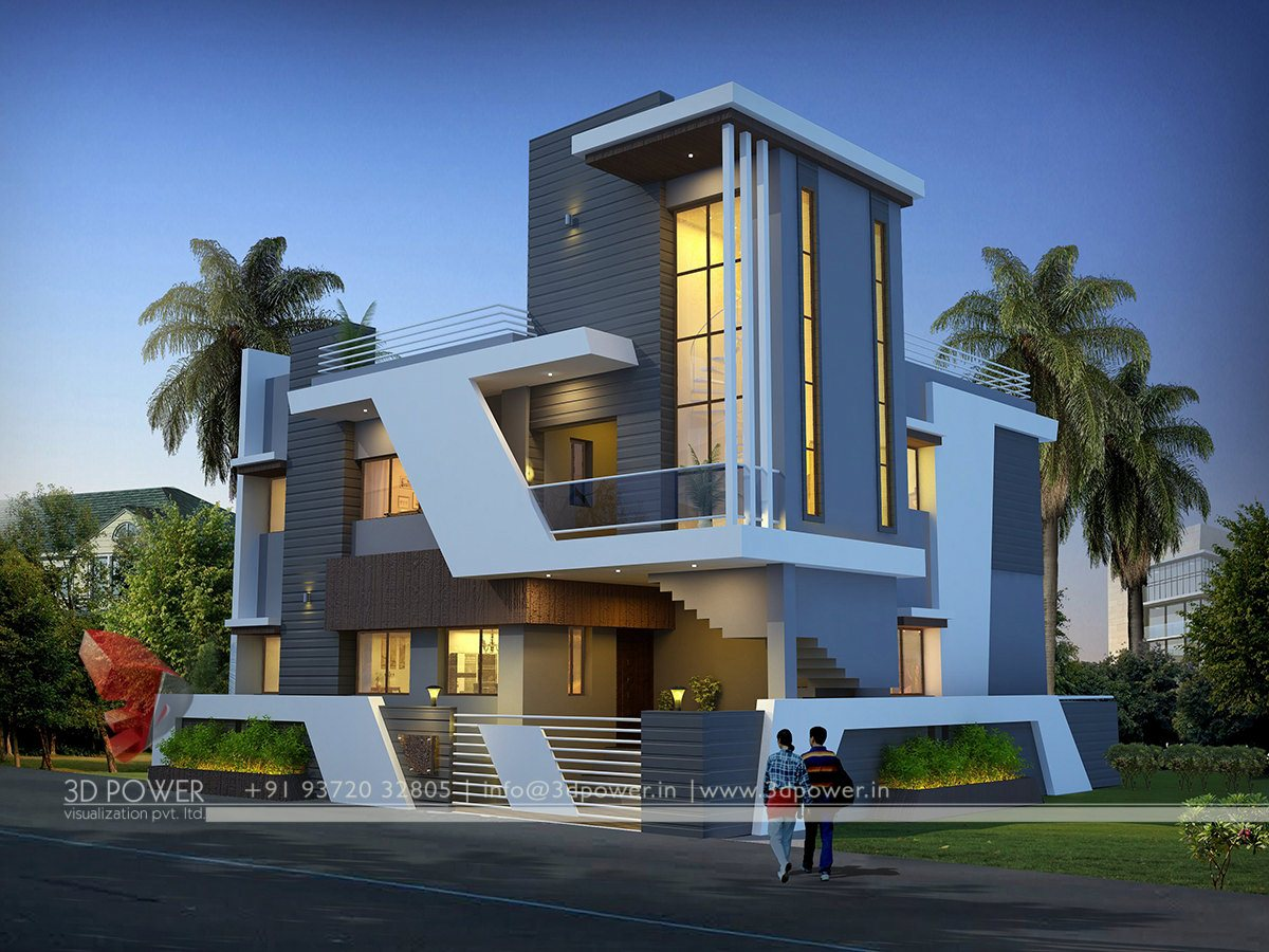 Ultra modern home designs home designs contemporary for Exterior 3d design