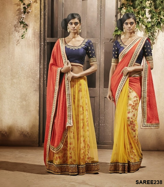 Designer Half Saree Collections Online Shopping