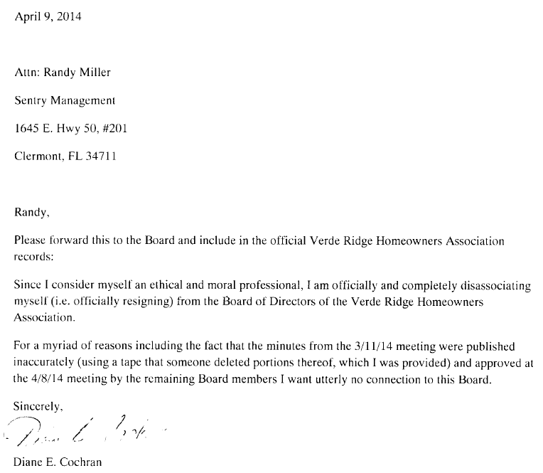 board member resignation letters
