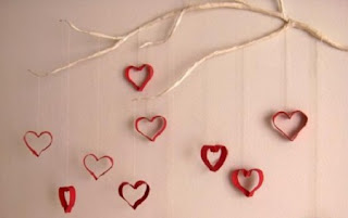10 Ideas para Decoraciones de San Valentin con Papel Reciclado