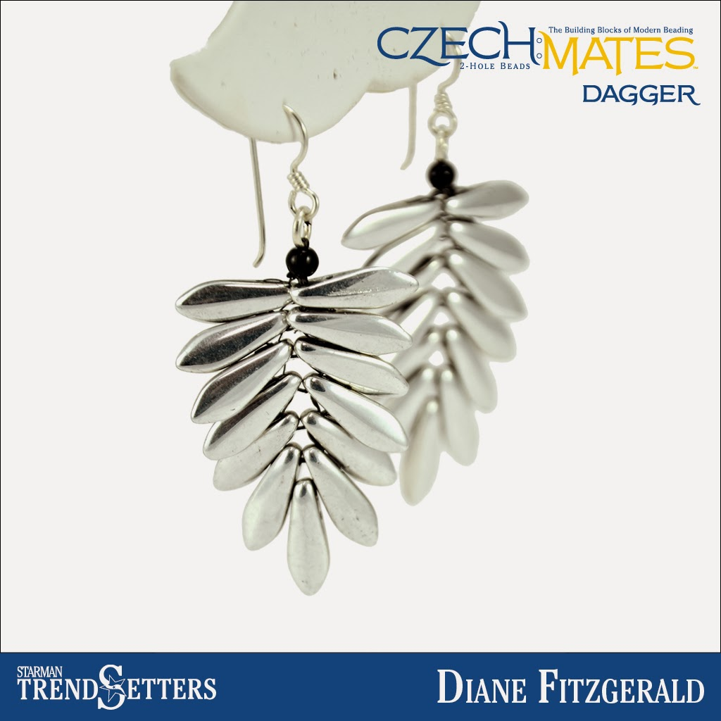 CzechMates Dagger earings by Starman TrendSetter Diane Fitzgerald