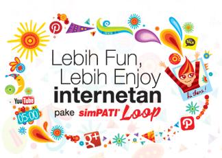 ... untuk paket internet SimPATI Loop ini bisa anda lihat pada gambar di