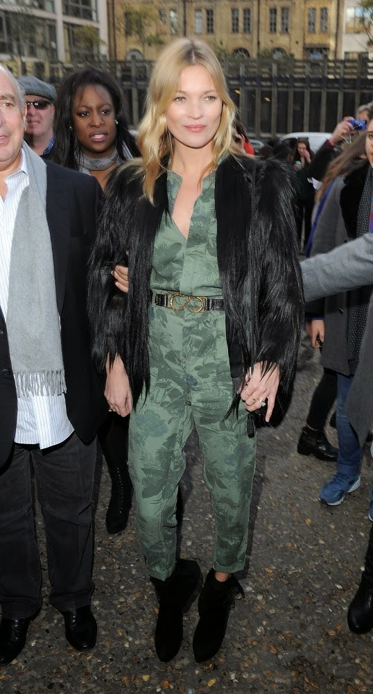 Kate Moss Attends the Topshop Unique Show at LFW