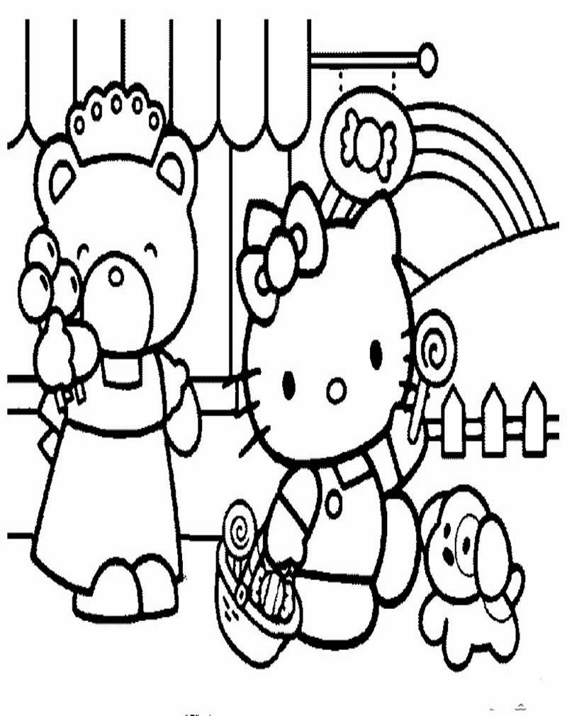 Mewarnai Gambar Hello Kitty Ayo Mewarnai Newhairstylesformen2014 Com