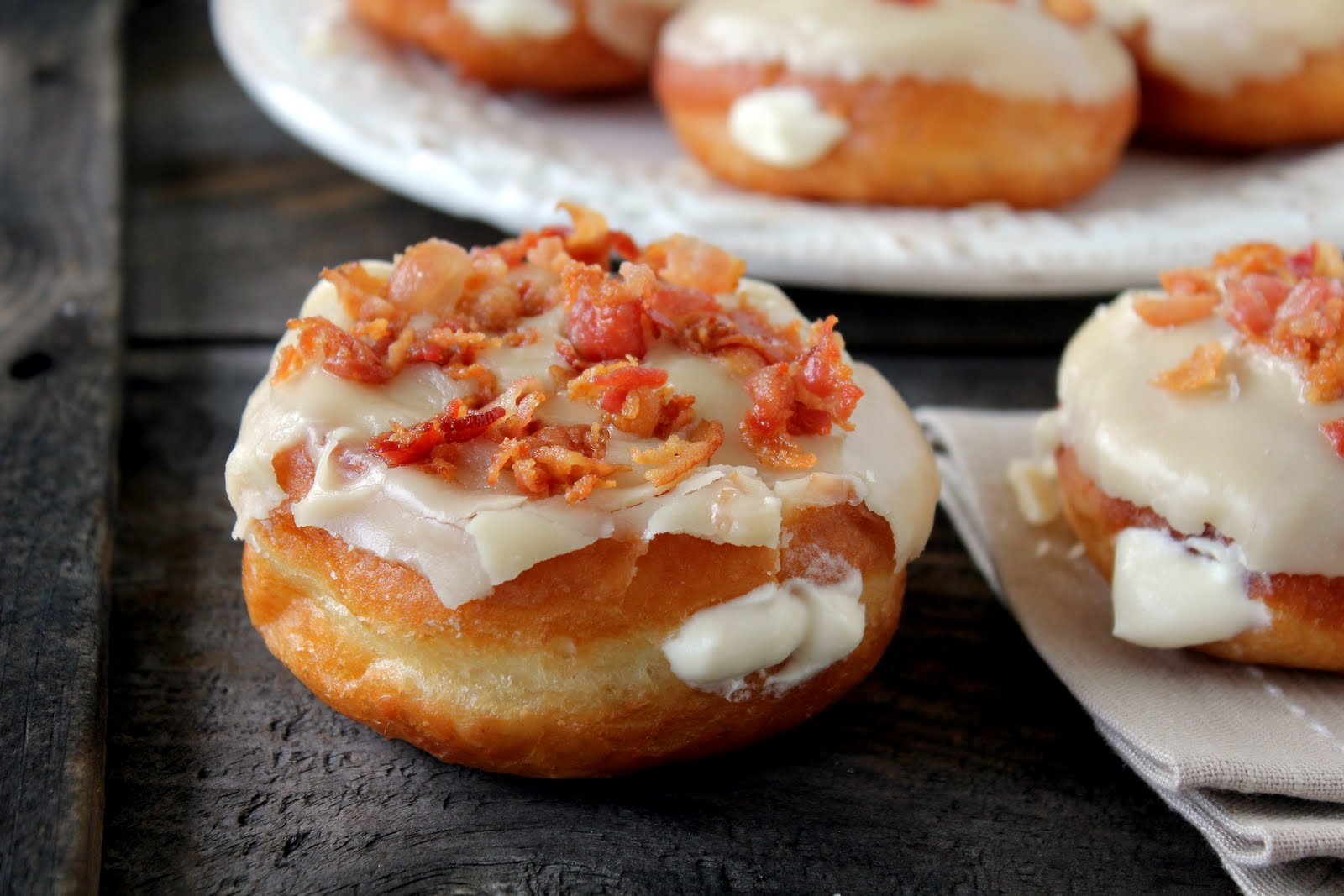 Maple Bacon Donuts recipe from cherryteacakes.com