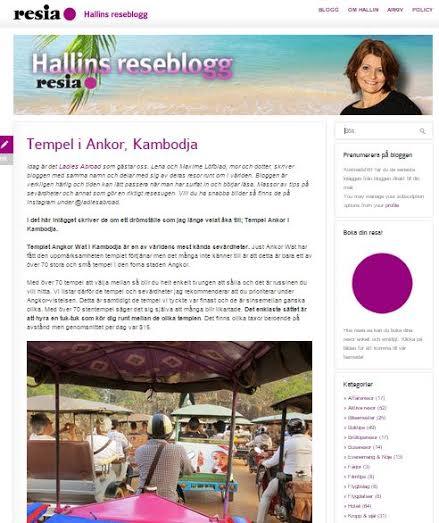 Vi gästbloggar hos Resia om tempel i Kambodja
