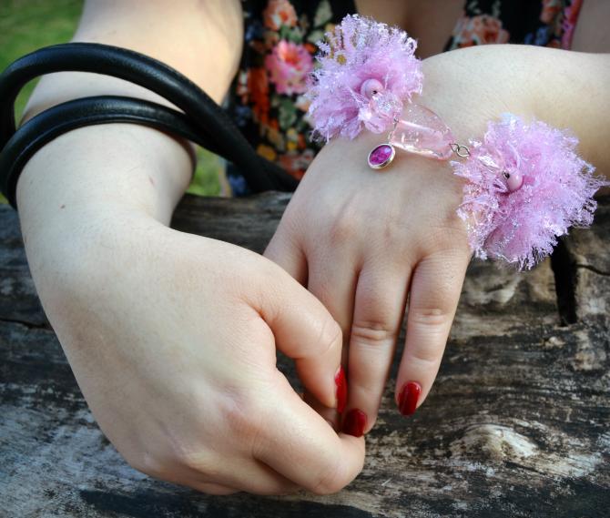 bracciale handmade pizzi e perle