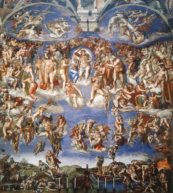 The Last Judgment - Michelangelo - Sistine Chapel (public domain image)