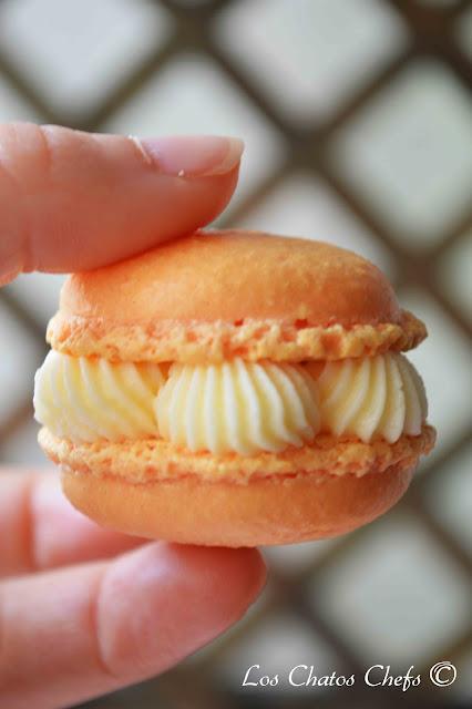 macarons con buttercream de mandarina