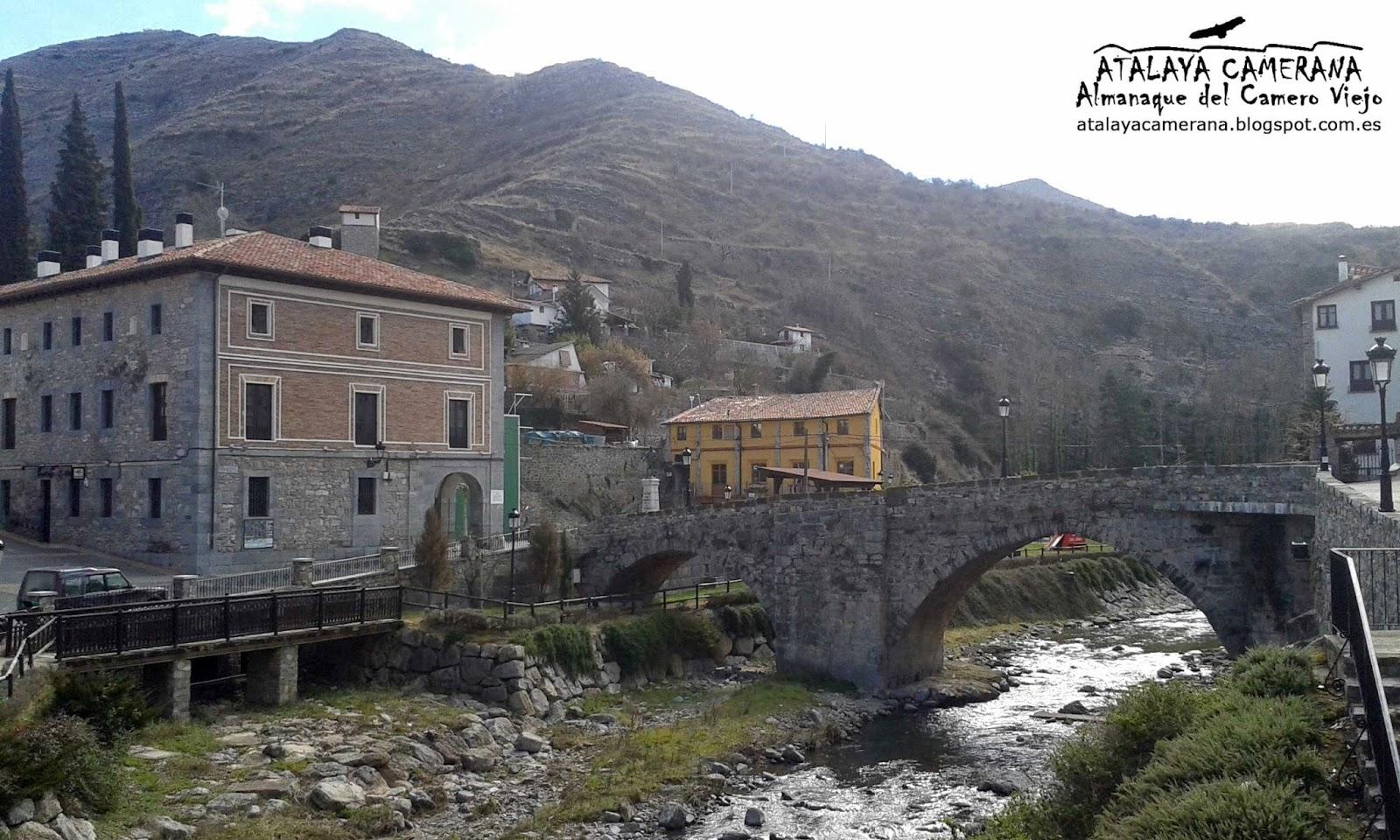 Soto en Cameros: Puente sobre el río Leza y Edificio de las Escuelas