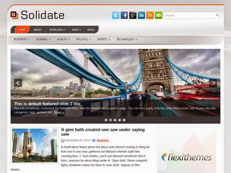 Solidate - Free Wordpress Theme