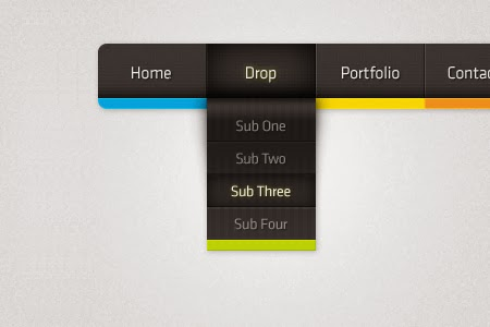 Color Drop Navigation