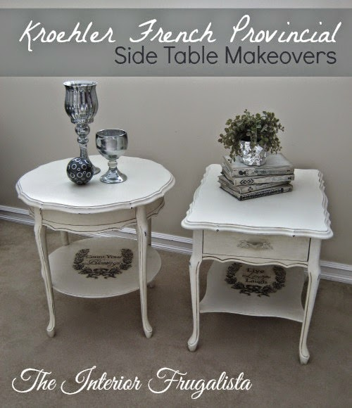 French Provincial Side Tables unified by a makeover