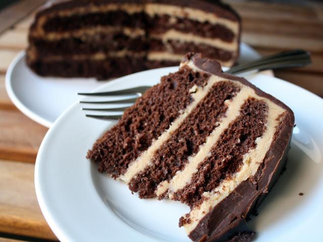 Make-Meals Mama: Chocolate Espresso Cake with Dark Chocolate Ganache